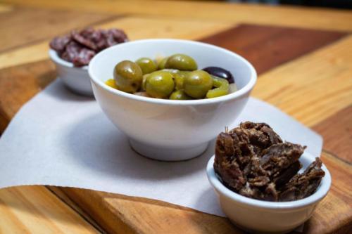 Starters: olives