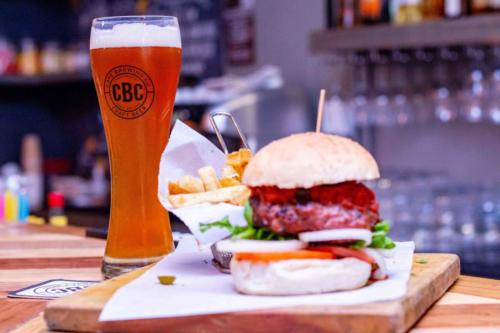 Craft beer and burger